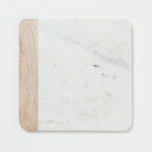 Marble & Wood Cheese Board in House+Home KITCHEN+DINING Serveware at Terrain