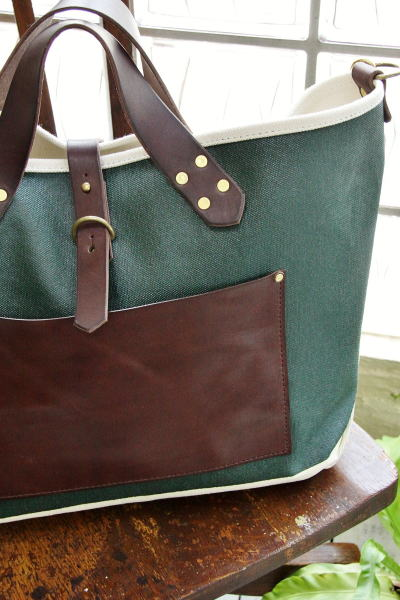 SUNSET CRAFTSMAN(サンセットクラフツマン) Lombard 2way Bag Dark Green / Cream