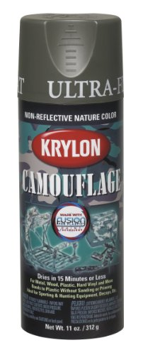 Amazon.com: Krylon K04293000 Camouflage With Fusion For Plastic Paint Technology Aerosol Spray Paint, 11-Ounce, Camouflage Olive: Home Improvement