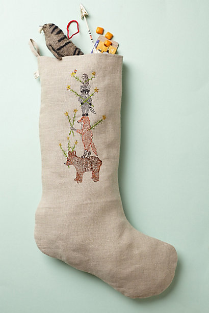 Embroidered Stocking - anthropologie.com