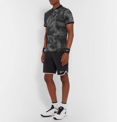 Nike Tennis - Advantage Premier Printed Dri-FIT Polo Shirt