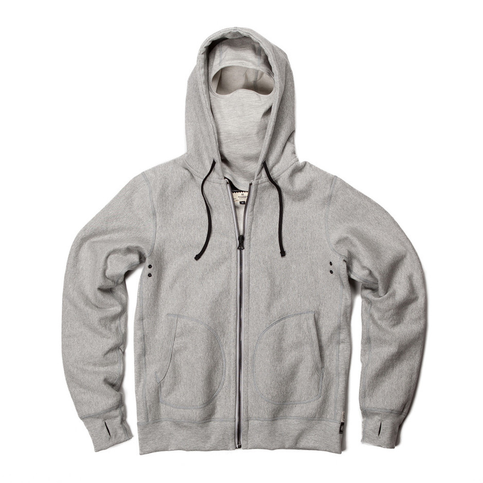 Reigning Champ Deus Ex Machina Full zip hoodie - heather grey | Reigning Champ