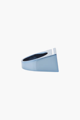 Maison Martin Margiela Blue Rectangle Ring for women | SSENSE