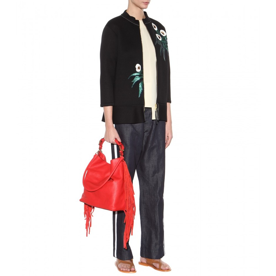 mytheresa.com - Fringed leather tote - Totes - Bags - Marni - Luxury Fashion for Women / Designer clothing, shoes, bags
