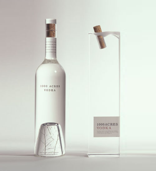 THEARTISTANDHISMODEL » 1000 Acres Vodka Packaging by Arnell