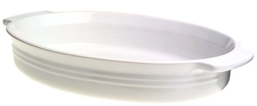 Amazon.com: Le Creuset Stoneware 14-Inch Oval Baking Dish, White: Kitchen & Dining