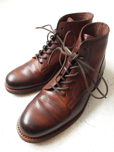 6inc Lace-Up Boots(Cow Leather,MGA1,1900,BROWN) - 18-eighteen online store.(三重県四日市市)