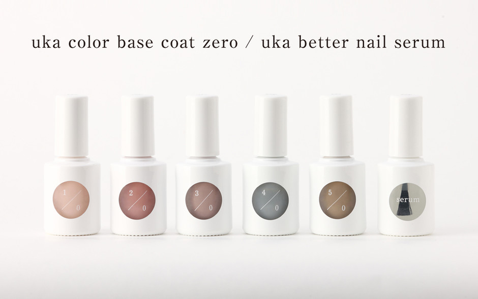uka|uka color base coat zero|uka better nail serum