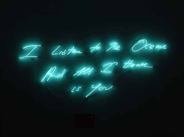 """Varietats: """"I promise to love you"""" by Tracey Emin"""