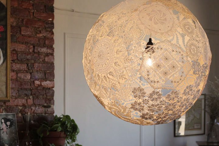 Upcycled Doily Lamp «