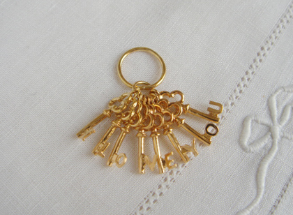 tinycrown: 鍵のペンダントチャーム*24K gold-plated