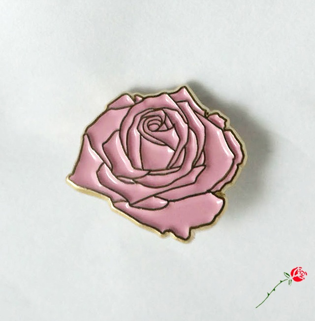 Inner Decay — Dusty Rose Pin