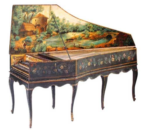 A green 1628-built Ruckers harpsichord. | Beautiful Musical Instrumen…