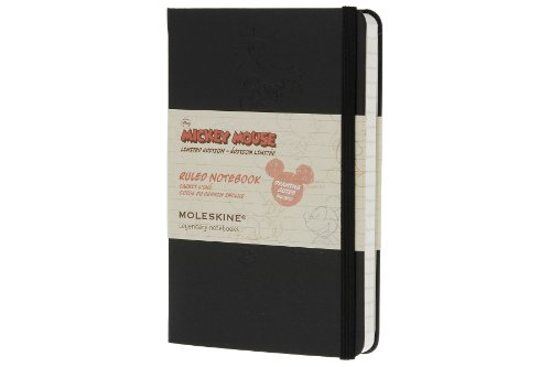 Amazon.co.jp: Moleskine Mickey Mouse Limited Edition Notebook, Pocket, Ruled, Black, Hard Cover (3.5 x 5.5) (Limited Editions): Moleskine: 洋書