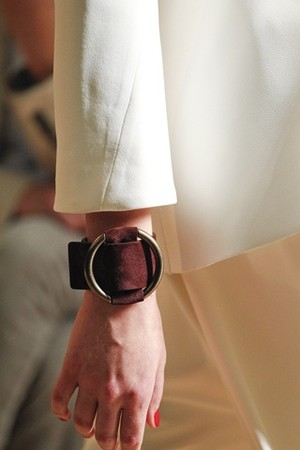 2012SS Suede Leather Cuff