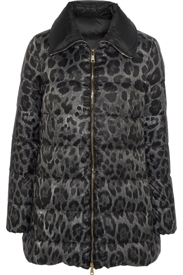 Moncler | Alimede leopard-print quilted shell down coat | NET-A-PORTER.COM