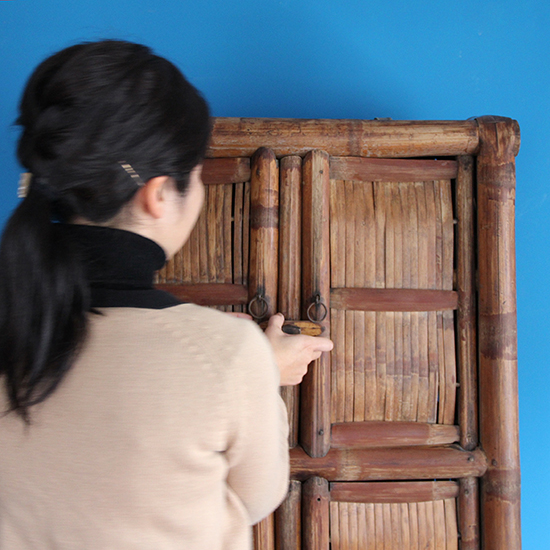 bamboo cabinet large / 竹製収納 大 [on the shore]
