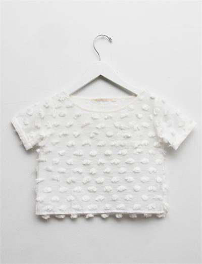 Creatures of Comfort Lil Julie Top - Puff Cotton White