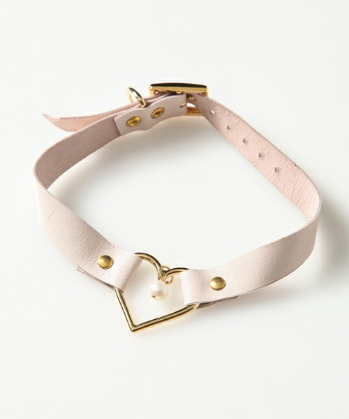 Candy Stripper(キャンディストリッパー) | HEART RING LEATHER 2WAY CHOKER(ネックレス) - ZOZOTOWN