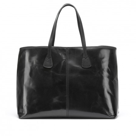 Alice Leather Tote Bag, large, in black from TUSTING