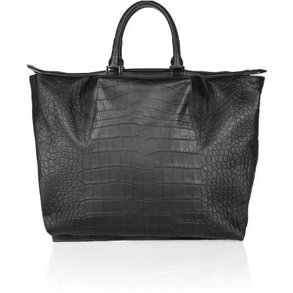 ALEXANDER WANG / Alexander Wang Croc-effect leather tote ($725)- Perfect for a clash day at work