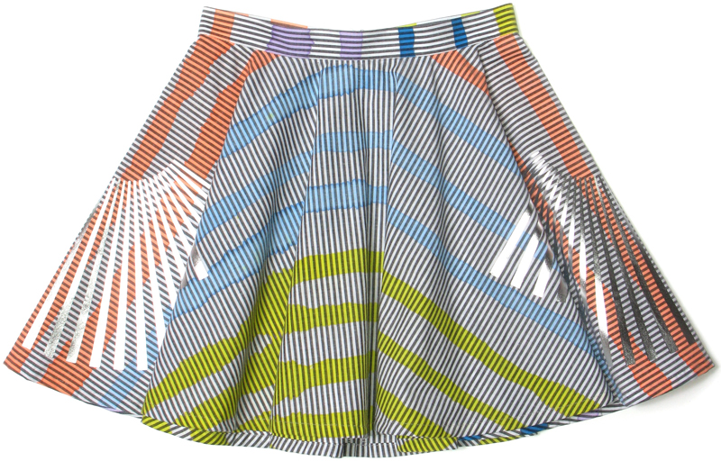 Painted Stripes Circular Skirt - STARSTYLING BERLIN