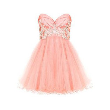 Dresses - Jessica - Coral - Forever Unique from polyvore.com | FASHIOLISTA | love your style!