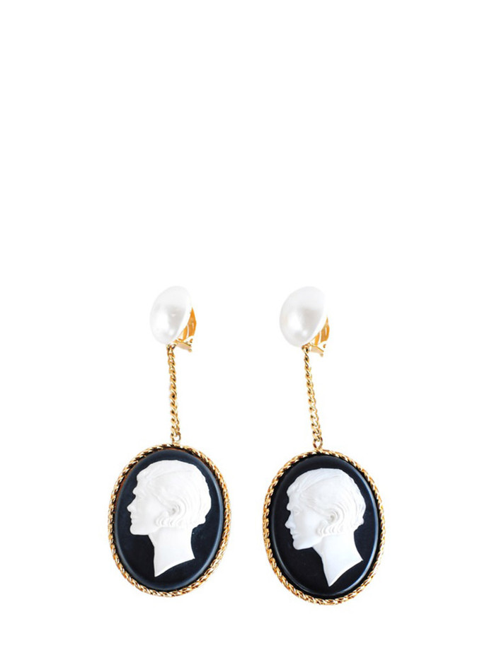 CAMEO EARRINGS [CC-513] : RESURRECTION, Vintage Designer Clothing