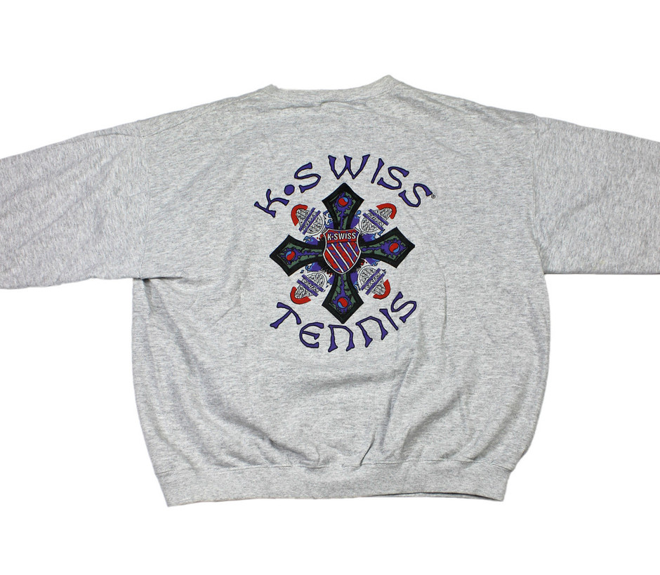 Vintage 90s Mens Clothing K-Swiss Tennis Team Crewneck | Vintage Mens Goods