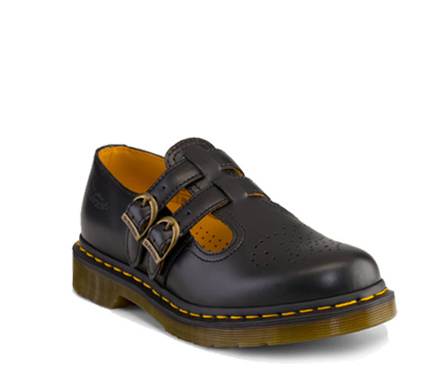 Dr Martens 8065 MARY JANE BLACK SMOOTH - Doc Martens Boots and Shoes