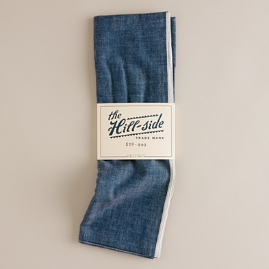 Men's the liquor store - accessories - The Hill-Side® chambray scarf - J.Crew