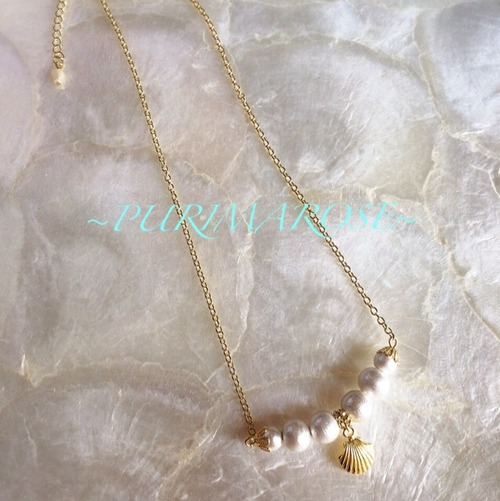 Pearl shell necklace | PURIMAROSE