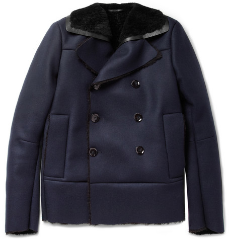ValentinoShearling-Lined Wool and Cashmere-Blend Peacoat MR PORTER