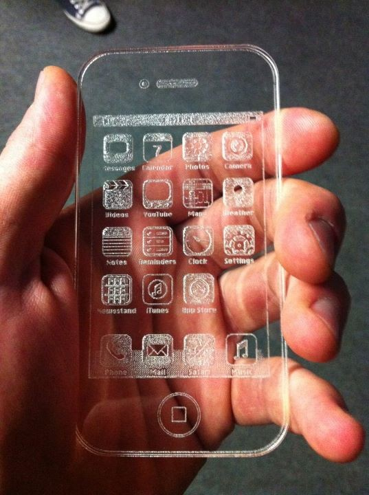 geeky goods / Etched Glass iPhone by Igor Voloschuk