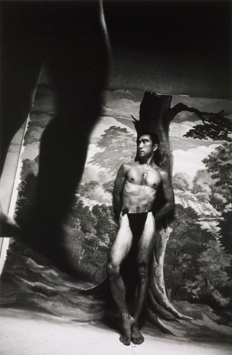 *JAPAN*...Past & Present...my current resting place. / Yukio Mishima photographed by Eikoh Hosoe, 1963. From the book, Ba-ra-kei (Killed/Ordeal by Roses). S)