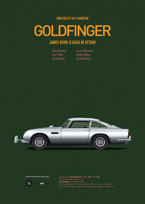 Cars and Films: Movie Posters Featuring Iconic Cars - SNEAKHYPE