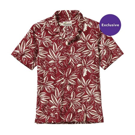 Men's Limited Edition Pataloha Shirt - Tropical: Drumfire Red