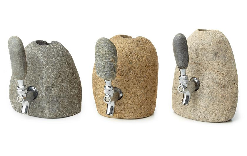 Rock Solid Liquor Holders - The Stone Drink Dispenser is Nature-Inspired and Sturdy