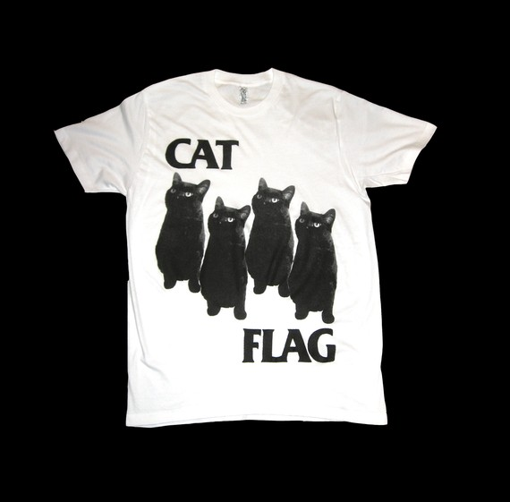 Black Flag CAT FLAG T Shirt Size Medium by SleazySeagull on Etsy