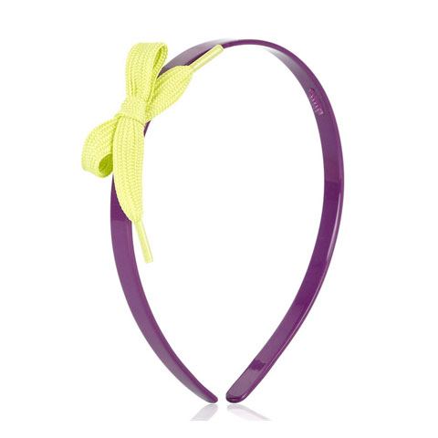Marc By Marc Jacobs Accessories Purple and Green Shoe Lace Headband on StyleCaster