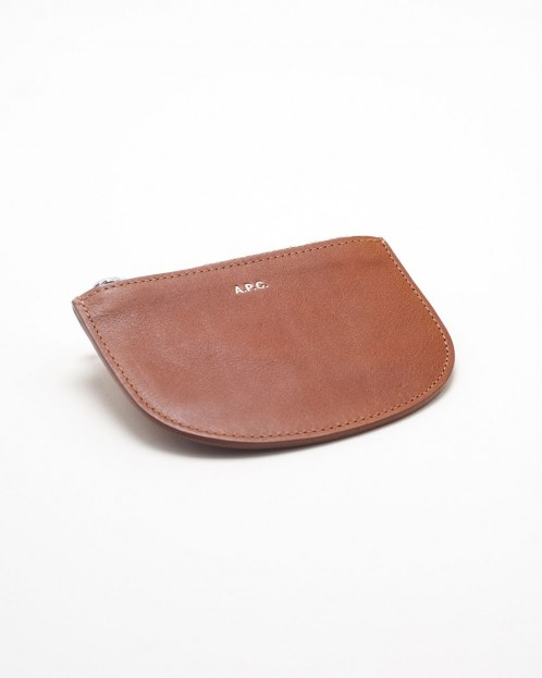 Leather Coin Pouch in Caramel