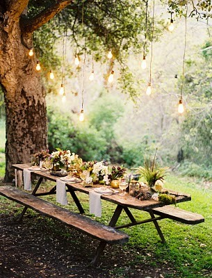 Organic Déco / rustic woodland party