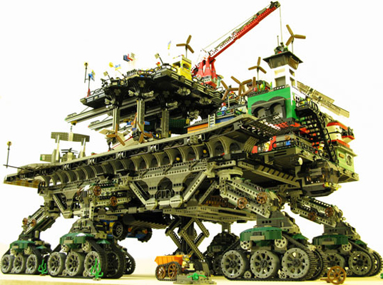 Lego 'Crawler Town,' A City on Wheels Roaming a Barren Planet | Inhabitat - Green Design Will Save the World