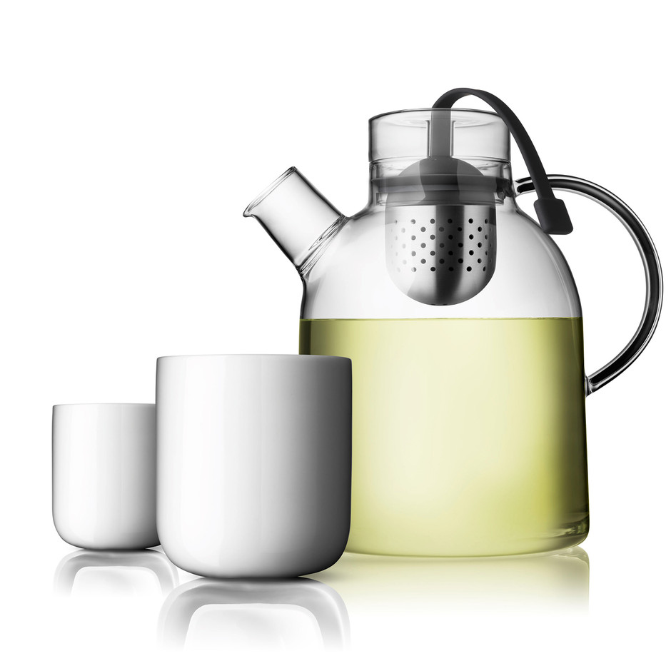 Teekanne Kettle Glas 1,5L mit 2 Thermobechern | Menu Design Shop
