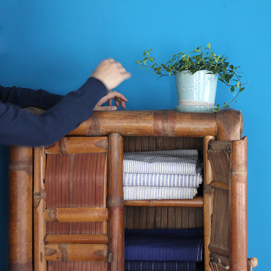 bamboo cabinet small / 竹製収納 小 [on the shore]