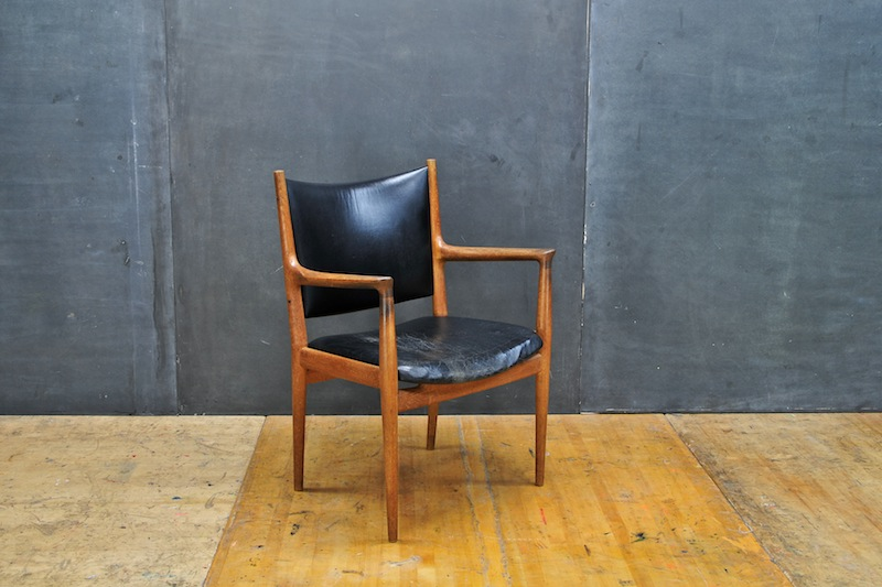 Hans Wegner Rare JH-513 Arm Chair : 20th Century Vintage Industrial Modern50 Style