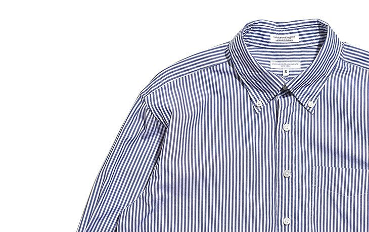 ENGINEERED GARMENTS/19th BD Shirt-Bengal St. Broadcloth-Navy×White