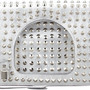 Tom Ford Alix Studded Foldover Clutch Bag Silver in White (SILVER) | Lyst
