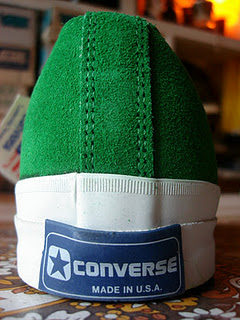 theothersideofthepillow: vintage CONVERSE skidgrip suede oxford green US12 US13 made in usa 1980's