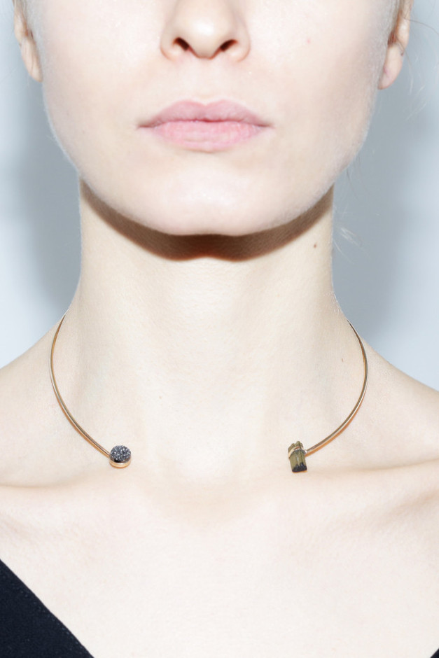 Black & Green Asteroid Choker – Assembly New York